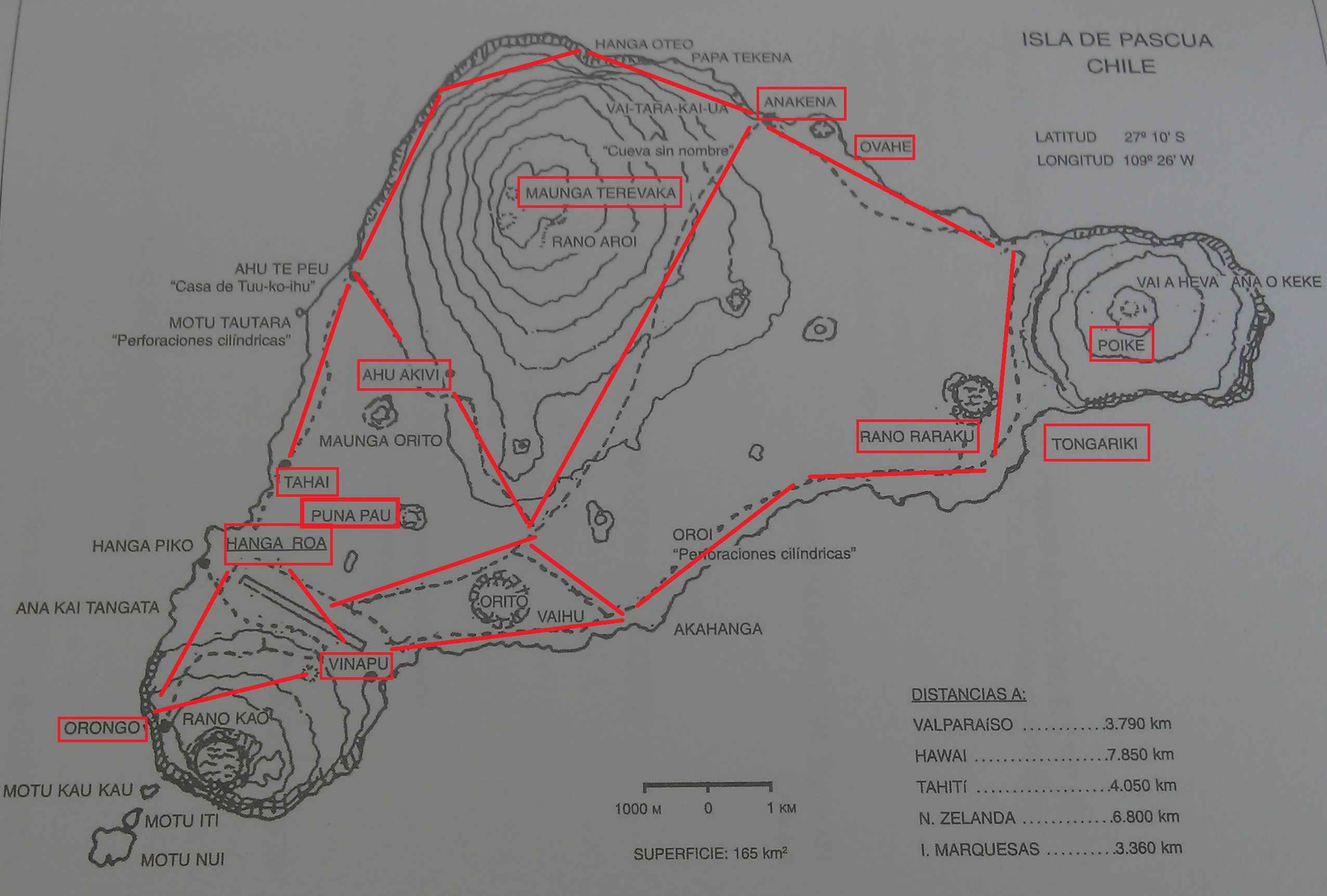 Map of Rapa Nui