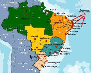 Fernando de Noroña Map