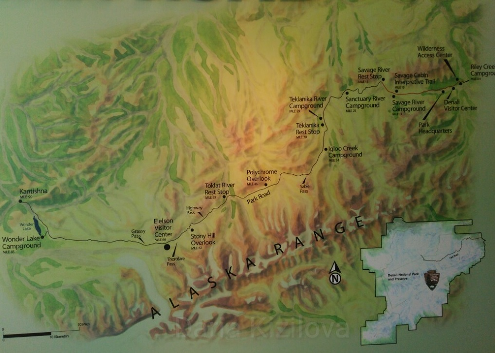 Map of Denali